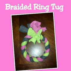 Rubber Braided Ring Dog Toy