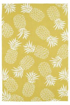 Pineapple Area Rug - Synthetic Rugs - Hand-made Rugs - Hand-hooked Rugs - Outdoor Rugs - Indoor Outdoor Rugs - All-weather Rugs - Contemporary Rugs - Tropical Rugs | HomeDecorators.com