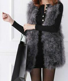 Black Cotton Blend Sheath Dress