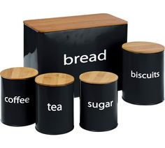 Buy ColourMatch 5 Pack Wooden Lid Storage Jars - Black at Argos.co.uk, visit Argos.co.uk to shop online for Storage sets and utensil holders, Kitchen storage, Cooking, dining and kitchen equipment, Home and garden