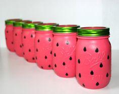 watermelon mason jar watermelon birthday decor watermelon