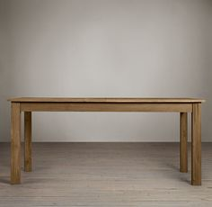 RHu0027s Drifted Oak Parsons Rectangular Extension Dining Table:The Simple  Proportions Of The Famed Parsons