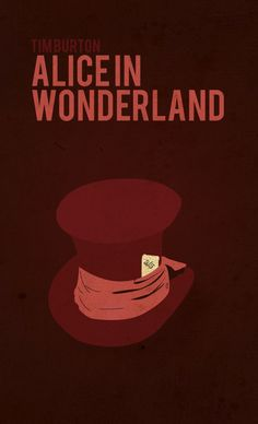 Alice In Wonderland ~ Tim Burton Minimalist Poster Series by Robert Sell