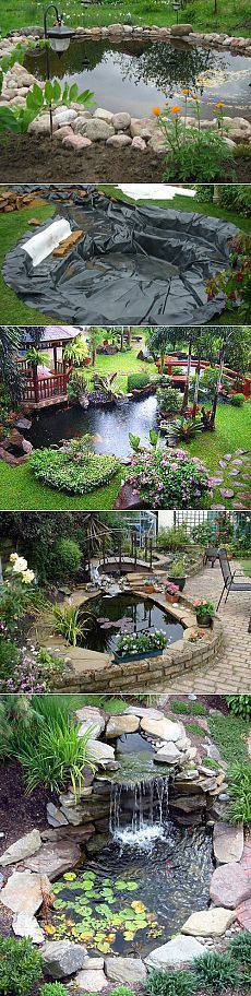 Simple Tips For Garden Ponds and Water Features In you have a pond in your garden, make sure you maintain it throughout the year. In order to keep a pond healthy, you need to ensure that the water is clear and that plants do not take Backyard Water Feature, Ponds Backyard, Backyard Patio, Backyard Landscaping, Landscaping Ideas, Diy Patio, Garden Ponds, Backyard Ideas, Backyard Layout
