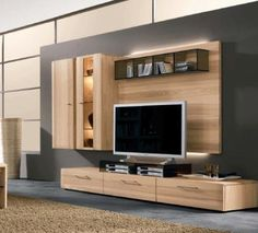 Wooden Entertainment Center from Dayoris