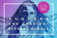 Duotone Actions Photoshop Bundle by skyboxcreative on @creativemarket