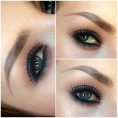 Quick and Easy smokey eye! One eyeshadow and One khol pencil , MAC blue brown pigment and urban decey 24/7 pencil in perversion. Lashes are from redcherry nr 47 , brow pencil from isadora in light brown.