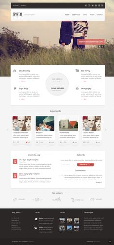 Crystal - PSD Template by Arian Selimaj, via Behance