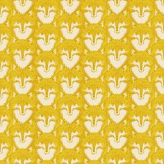 Timber and Leaf by Sarah Watts for Blend One Yard of Fox Portrait in Gold. $10.50, via Etsy.