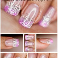 Silver & Pink Glitter Nails | Futilities and More