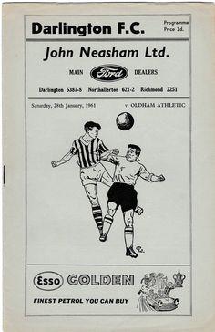 Vintage Football Programme - Darlington v Oldham Athletic, season by DakotabooVintage on Etsy Retro Football, Football Design, Vintage Football, Football Posters, Football Soccer, Vintage Gifts, Etsy Vintage, Hibernian Fc, Leeds United