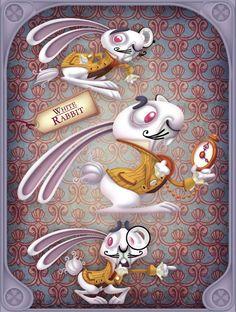 Alice In Wonderland by Miklos Weigert, via Behance