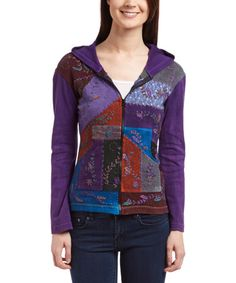 Love this Purple Patchwork Hoodie on #zulily! #zulilyfinds