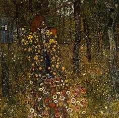 Bauerngarten mit Kruzifix, Gustav Klimt