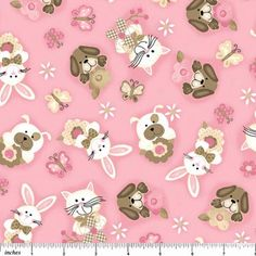 Northcott - bunny patch flannel