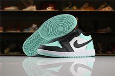 dcf396e5e New Air Jordan 1 Low White/Emerald Rise-Black 553558-117