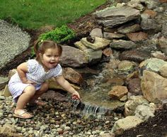Kid safe waterfall without pond for a child safe water feature.  Complete packages available.