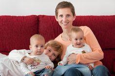 Madre Soltera por elección de tres hijos, uno con donante de esperma y dos mellizos por donación de embriones