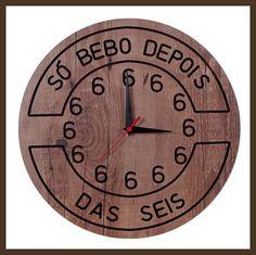 RELÓGIO G SÓ BEBO DEPOIS DAS 6 <br>-Medidas: 400 mm <br>-Peso: 0,900 Kg <br>-Código: TBR44 <br>-POSTAGEM (ENVIO) NO MÁXIMO 7 DIAS ÚTEIS <br>-material mdf <br>-Ideal para decorar churrasqueiras e espaço gourmet <br>-A tonalidade da madeira poderá haver uma pequena diferença