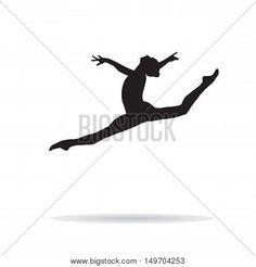 Gymnastics girl silhouette on white background. Dancing Drawings, White Backgrounds, Girl Silhouette, Gymnastics Girls, Olympics, Athlete, Tattoo Ideas, Web Design, Typography