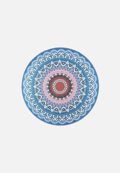 Round Boho Printed Rug Calming Colors, Gifts For Girls, Color Splash, Screen Printing, Beach Mat, Hand Weaving, Custom Design, Outdoor Blanket, How Are You Feeling