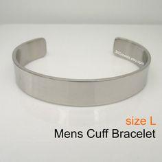 Manchet Bangle armband voor mannen zilver RVS armband