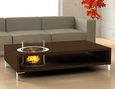 coffe table + fireplace