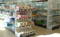 estanterias centrales para tienda de animales
