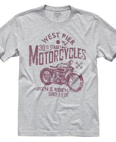 Izod T Shirt, West Pier Motorcycles Graphic T Shirt - Mens T-Shirts - Macy's