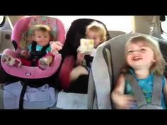 Baby wakes up dancing!!!!!! Hilarious!!!! Three sisters ages 1,2, and 3 - YouTube