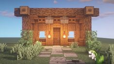 Minecraft house entrance idea - Minecraft World 2020 Lego Minecraft, Minecraft Small House, Casa Medieval Minecraft, Minecraft Houses Survival, Easy Minecraft Houses, Minecraft Houses Blueprints, Minecraft Plans, Minecraft Construction, Amazing Minecraft