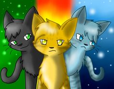 Hollyleaf Lionblaze And Jayfeather Warrior Cats Series 3 Cool