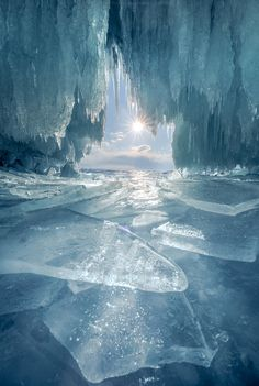 ~~Ice is blue | ice cave, Kharantsy, Russia | by Coolbiere. A.~~
