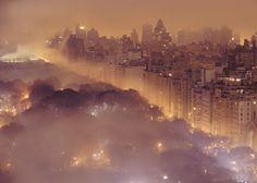 New York fog at dawn.