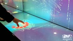 DSE 2016: Multitaction Demos iWall With Unique Interactive Touch Technology