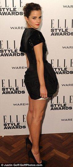 Emma Watson long hair and legs