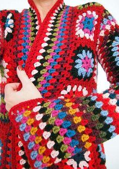 Op een sombere zondagmorgen kwam ik dit fantastische,   kleurrijke Granny Vest tegen!   Wat een inspiratie!     Ik zag dit fantastis...