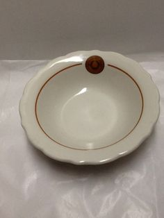 Syracuse University Bowl Vintage China Mid Century from cafeteria soup cereal