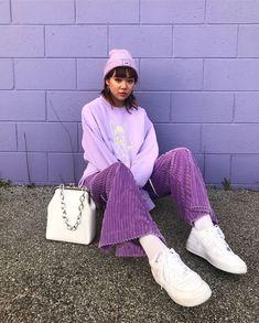 lila в 2019 г. fashion, aesthetic fashion и fashion. Lila Jeans Outfit, Lila Outfits, Purple Outfits, Retro Outfits, Cool Outfits, Vintage Outfits, Casual Outfits, Fashion Vintage, Aesthetic Fashion