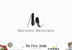 Brush Font Monogram Logo Design - photography logo, website logo, boutique logo, creative
