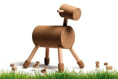 Kids Room:Cool Kids Table And Chair Designs Cool Cork Furniture Design Horse Shaped Brown Cork Kids Playroom Chair