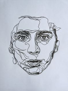 Ink drawing, by Kris Trappeniers. a continuous line drawing of a portrait Life Drawing, Painting & Drawing, Drawing Style, Kris Trappeniers, Draw Realistic, Pintura Graffiti, Contour Line Drawing, Contour Drawings, Drawing Tips