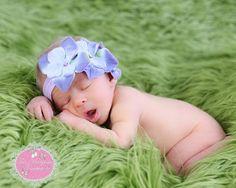Gorgeous Newborn Baby Girl Flower Headband by TresMariposasCouture, $12.99