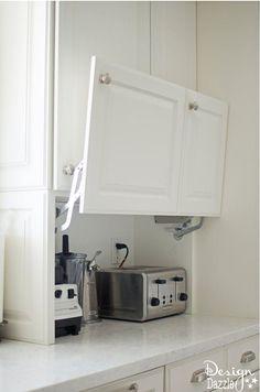 zaslanianie kuchennego agd // Smart Storage: Totally Genius Ways to Customize Kitchen Cabinets