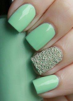 Beautiful Green Nail Polish