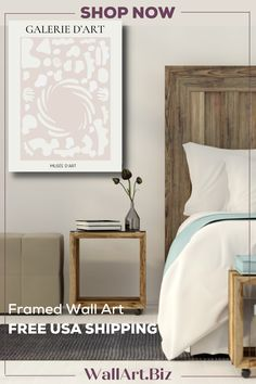 FRAMED & FREE USA SHIPPING Available in three sizes. Versatile canvas print that works well in any room. Bedroom Canvas, Bedroom Artwork, Shape Art, Beige Background, Abstract Shapes, Canvas Frame, Color Schemes, Sofa, Canvas Prints