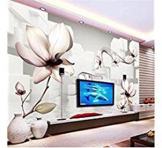 Sproud Wall Mural Wallpaper Hd White Magnolia Lattice Art Room Living Room Dining Backdrop Custom Silk Photo Wallpaper 400cmX280cm