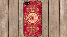 Personalized Monogram Royal Romance Floral for iPhone 4/4s/5/5s/5c Samsung Galaxy S3/S4/S5/Note 2/Note 3 by TopCraftCase on Etsy, $6.99