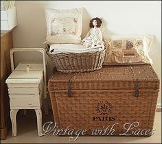 Vintage Wicker Trunk - Studio Tour - Vintage with Laces