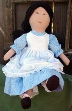 PDF Pattern Playful Prudence Large Rag Doll by museofthemorn